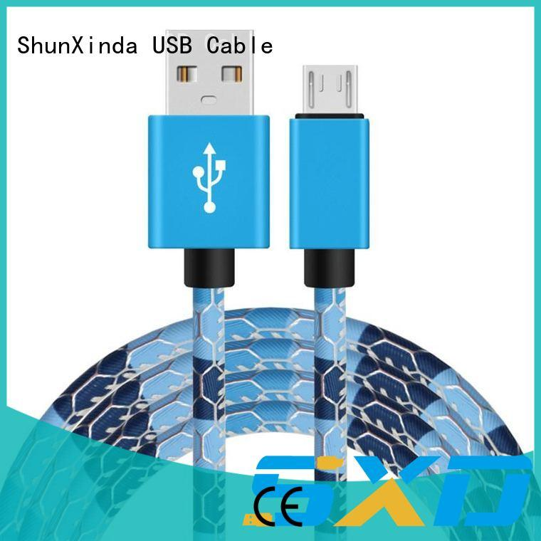 Colorful leather pattern 1M micro usb cable for Android device phone