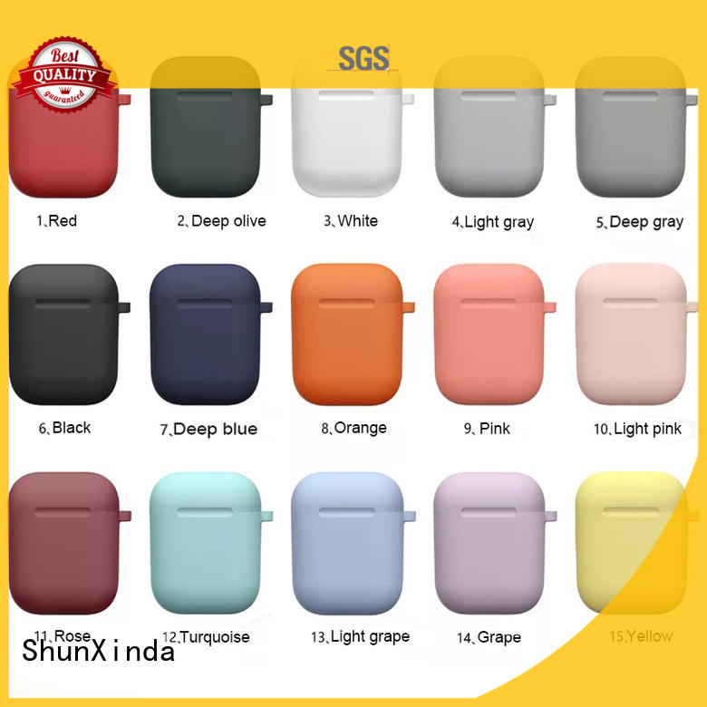 ShunXinda high quality leather airpods case for sale for charging case