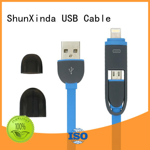 retractable charging cable samsung pu ShunXinda Brand multi charger cable