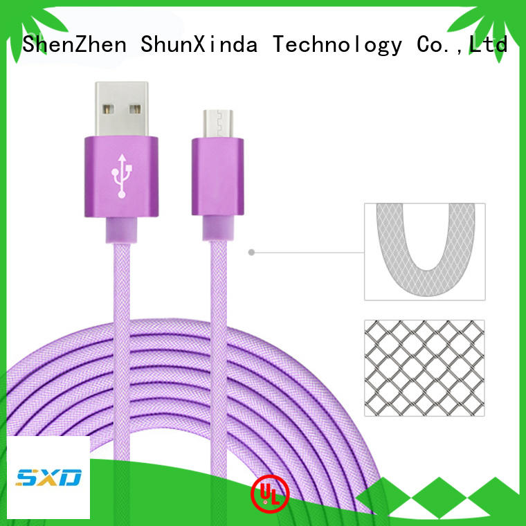 ShunXinda braided fast charging usb cable factory for car